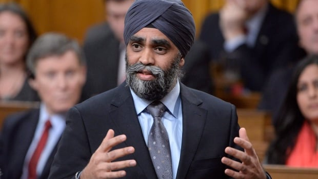 Defence Minister Harjit Sajjan said he's working with the military leadership and Veterans Affairs Canada to put an end to the backlog of pension cheques once and for all.