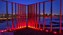 Art installation at Fort Calgary