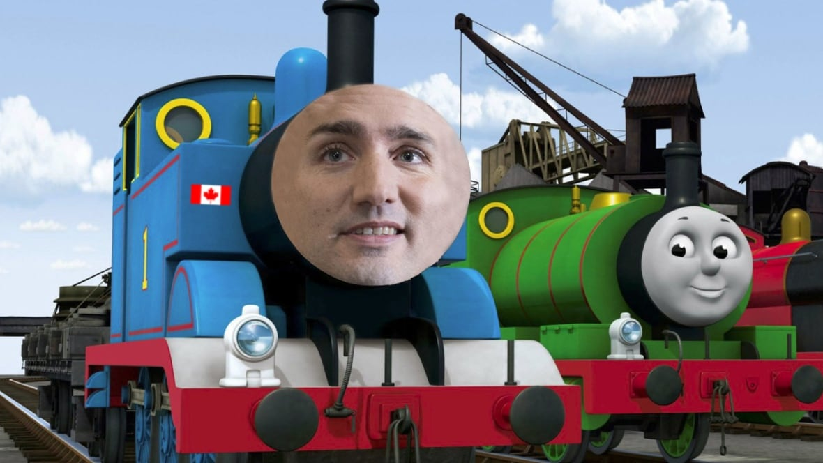 Thomas The Tank Engine gets a Canadian caboose   Home   Because News   CBC  Radio. Thomas The Tank Engine gets a Canadian caboose   Home   Because