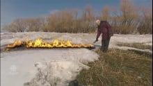 """""""Burning snow"""" April Fools' Day item"""