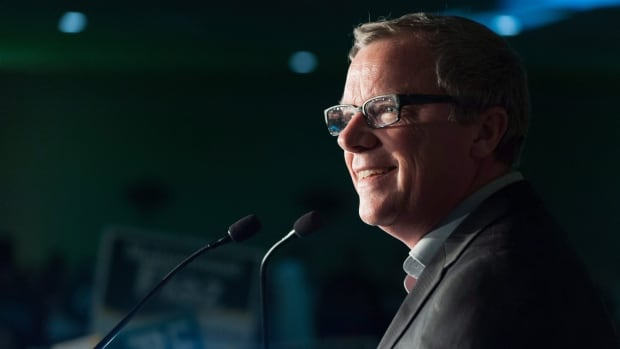 Saskatchewan Party leader Brad Wall speaks to supporters at a Saskatchewan Party rally in Regina on Friday April 1, 2016. The Saskatchewan provincial election takes place Monday, April 4.