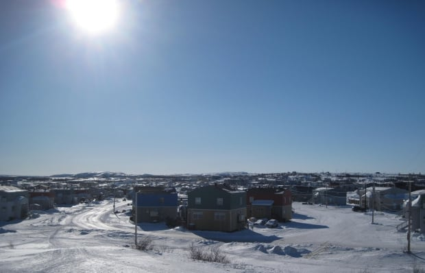 Kuujjuaq on a sunny March day