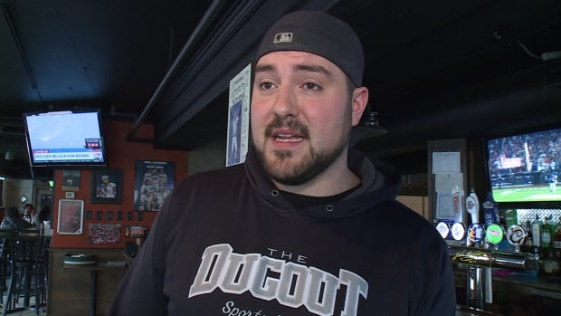 Nicolas Puim, the owner of the Dugout bar in Windsor says he's seen an influx of people during the CARHA recreational hockey tournament.
