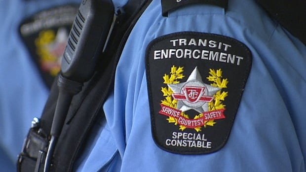 Five former transit enforcement officers are standing trial for fabricating evidence and obstructing justice.