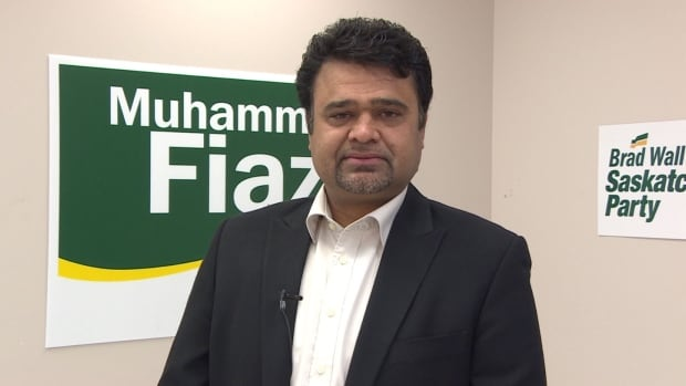 Muhammad Fiaz says he's the first Muslim ever elected to the Saskatchewan Legislature.