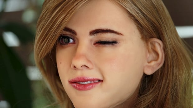 He named it 'Mark 1' but this robot looks a lot like Scarlett Johannson | CBC News