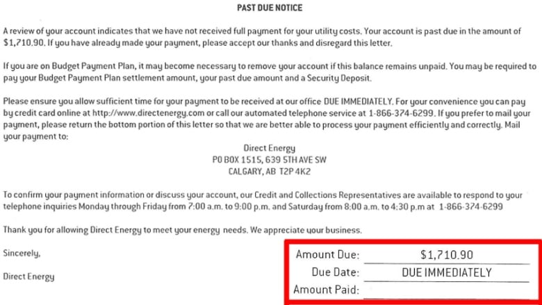 Another Alberta Direct Energy customer goes public with