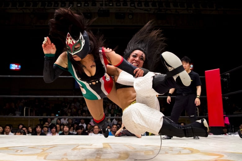 Japan's female pro wrestlers blur the lines between decorum and