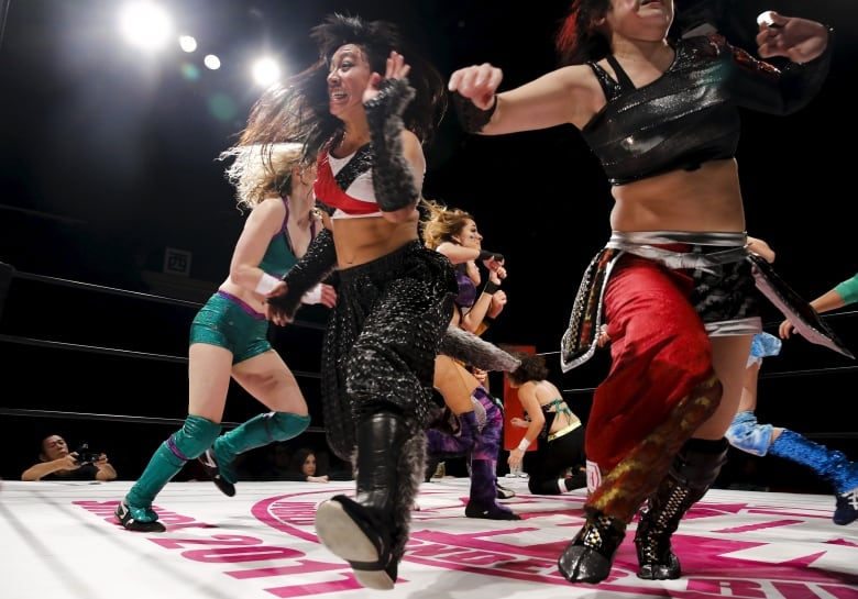 Japan's female pro wrestlers blur the lines between decorum and brutality