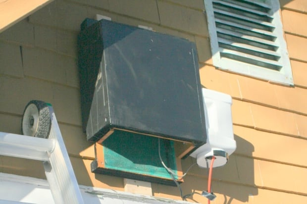Heated bat box installed on a home in Sudbury