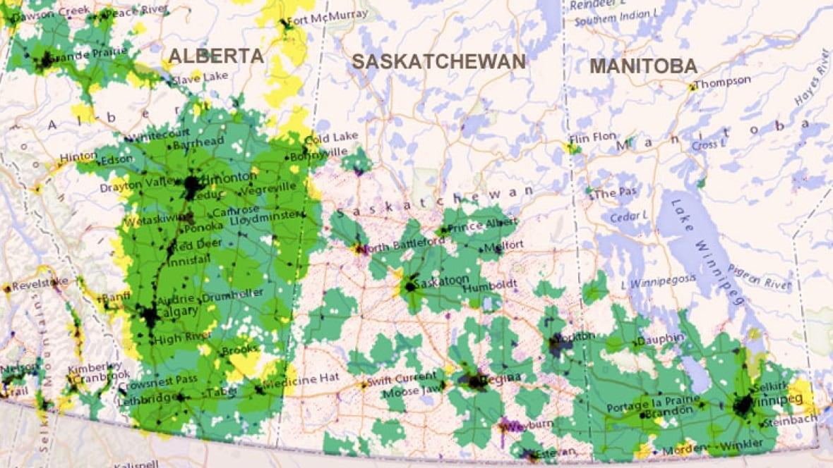 Wheres The High Speed Internet In Saskatchewan Saskatchewan Map Of Broadband Coverage In Us