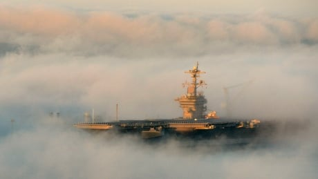 U.S. aircraft carrier strike group patrols in South China Sea