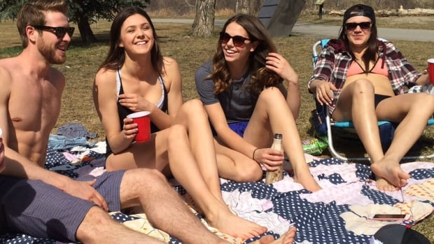These students were out enjoying some unseasonably warm spring weather in 2016. Environment Canada says 2017 has been even warmer: the hottest on record, in fact, for May, June and July.