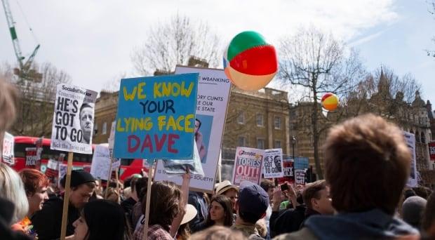 Cameron protest 1