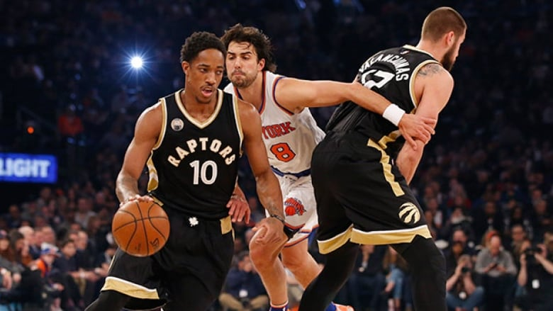 e5acf2840ef Demar DeRozan moved ahead of Vince Carter on the Toronto Raptors all-time  scoring list on Sunday night against the New York Knicks.