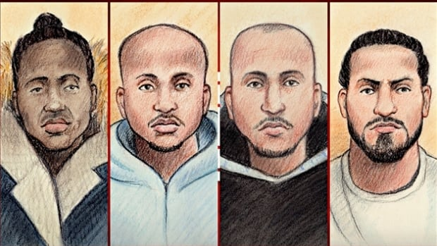 Lual Lual, Mohamed Yusuf, Alaa Asiri and Ali Elenezi are four of the five men charged with first-degree murder and kidnapping in connection with the January shooting death of Mohamed Najdi.