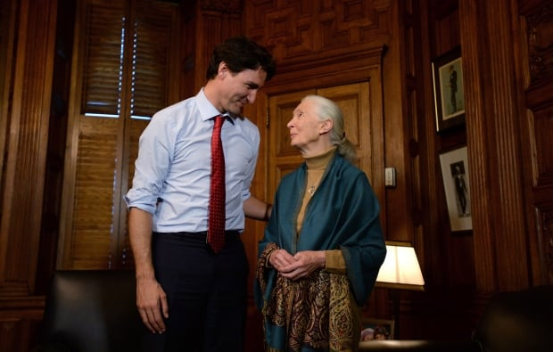 Trudeau and Jane Goodall