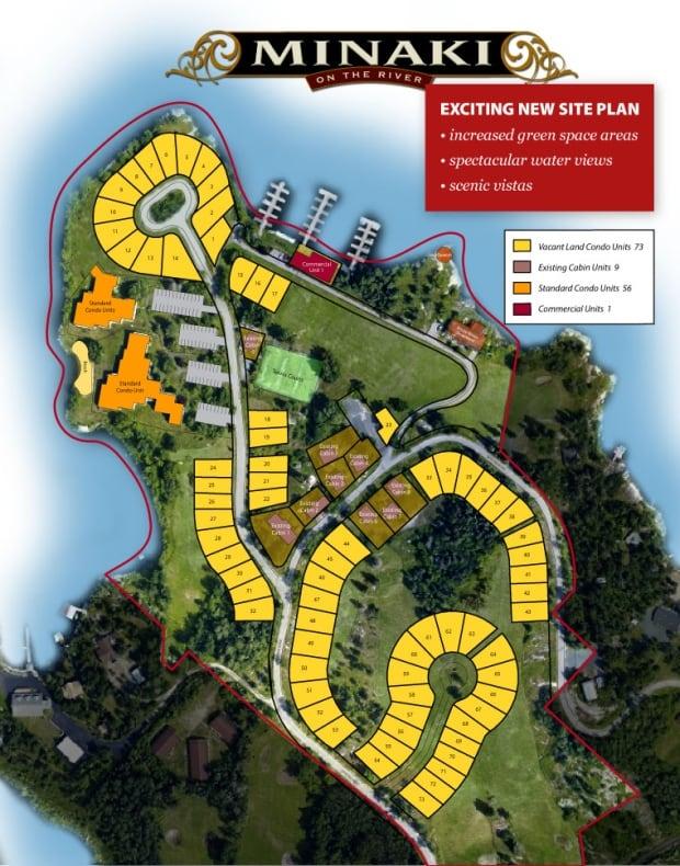 Minaki on the River site plan