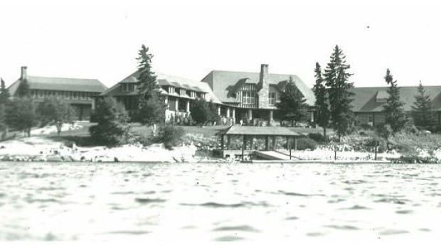 This historic 1947 photo shows Minaki Lodge before it was destroyed by fire in 2003.
