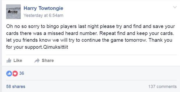 rankin inlet bingo facebook