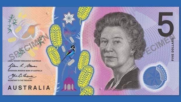 The Royal Bank of Australia released images of the new $5 banknote that will be issued into circulation starting Sept. 1.