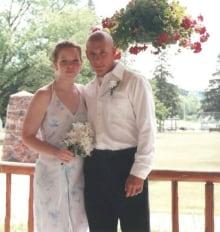 Ashlea and Jeremy on wedding day