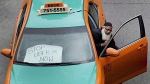 Toronto Taxi Uber protests
