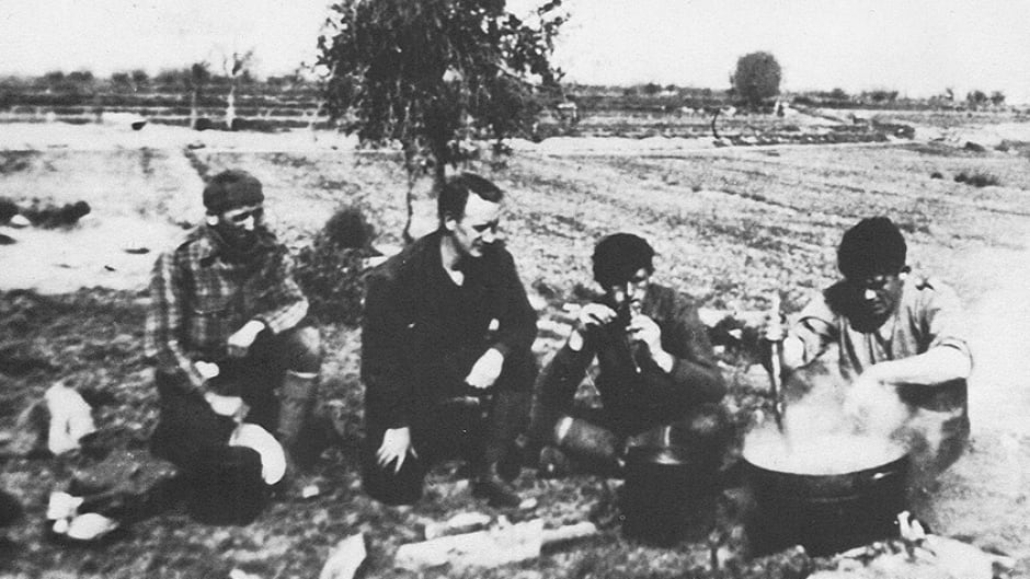 George Orwell in Spain during the siege of Huesca, 1937.