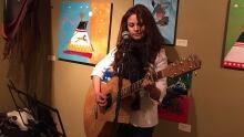 Tracy Bone on guitar