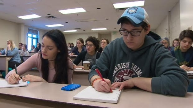 Student aid programs in New Brunswick were cut by $50M over the last two years, while a new program only put back $25M.