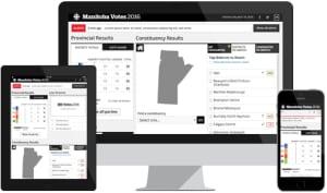 Manitoba Votes 2016 results dashboard