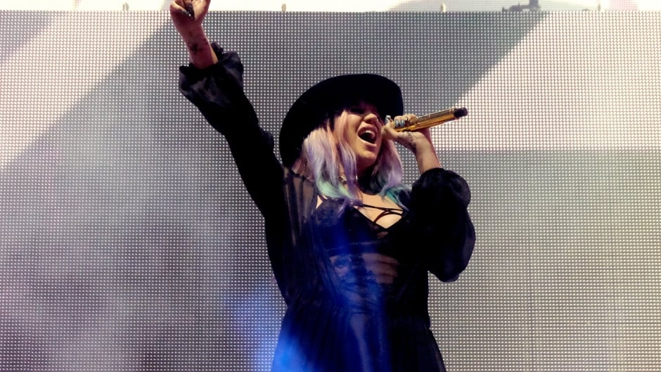 INDIO, CA - APRIL 16:  Singer Kesha performs onstage with record producer Zedd during day 2 of the 2016 Coachella Valley Music & Arts Festival Weekend 1 at the Empire Polo Club on April 16, 2016 in Indio, California.