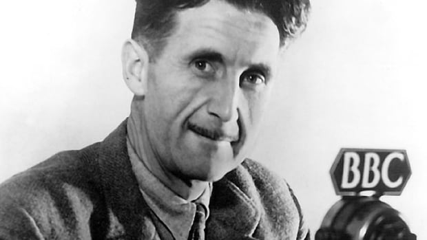 George Orwell at the BBC in 1941. The insights of his books and many other writings still resonate today.