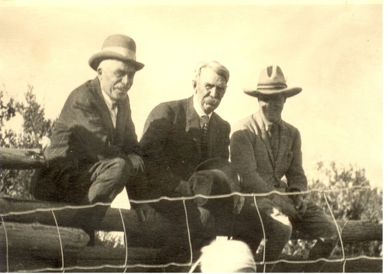Calgary Stampede Founders Archie Mclean Left And George