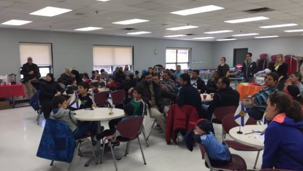 Syrian refugee families gather for a meet-and-greet session at the Captain William Spry Community Centre in Spryfield.