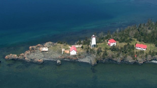 A bird's eye view of Porphyry Island Lighthouse near Thunder Bay, Ont. The lighthouse was acquired and restored by the volunteer group, Canadian Lighthouses of Lake Superior, and the buildings can now be rented out by summer visitors.