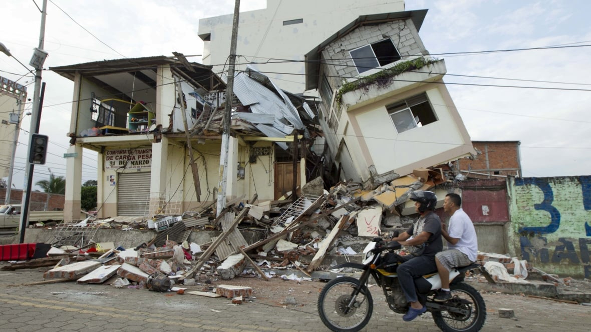 4 canadians now confirmed dead in ecuador earthquake for Where do you go in an earthquake
