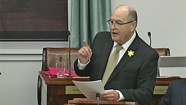 Finance Minister Allen Roach delivered a deficit budget on Tuesday.