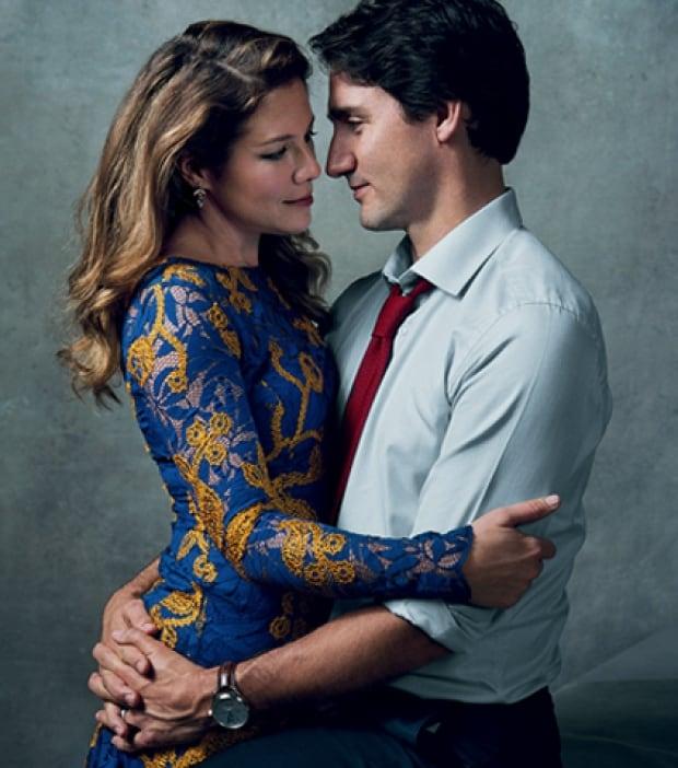 Justin Trudeau and Sophie Grégoire-Trudeau in Vogue