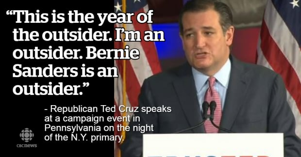 Ted Cruz Quotes Best They Said What The New York Primary In Quotes  World  Cbc News