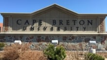 Cape Breton University sign