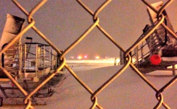 Gander Airport crash landing scene