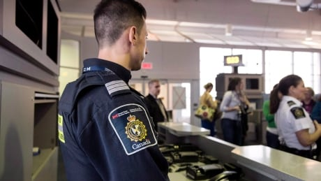Border services at airport