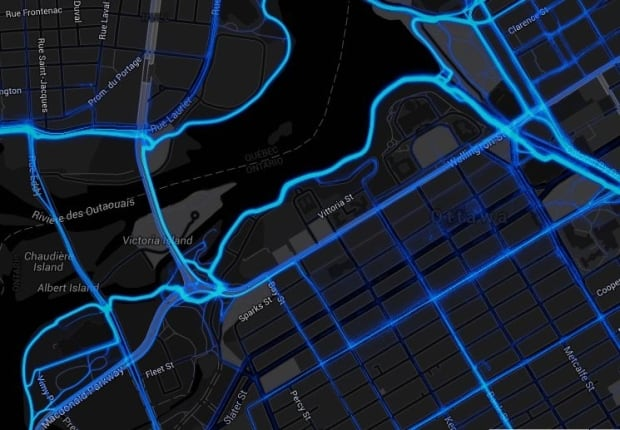 strava ottawa heat map cycling gps app