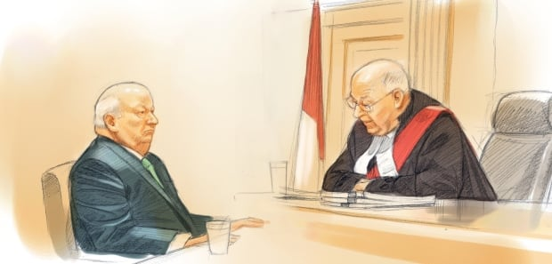 Senator Mike Duffy and Justice Charles Vaillancourt