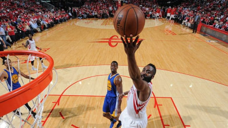 dd5094525507 James Harden scored the game-winning basket with 2.7 seconds left in the  4th quarter to give the Houston Rockets a 97-96 victory over the Golden  State ...