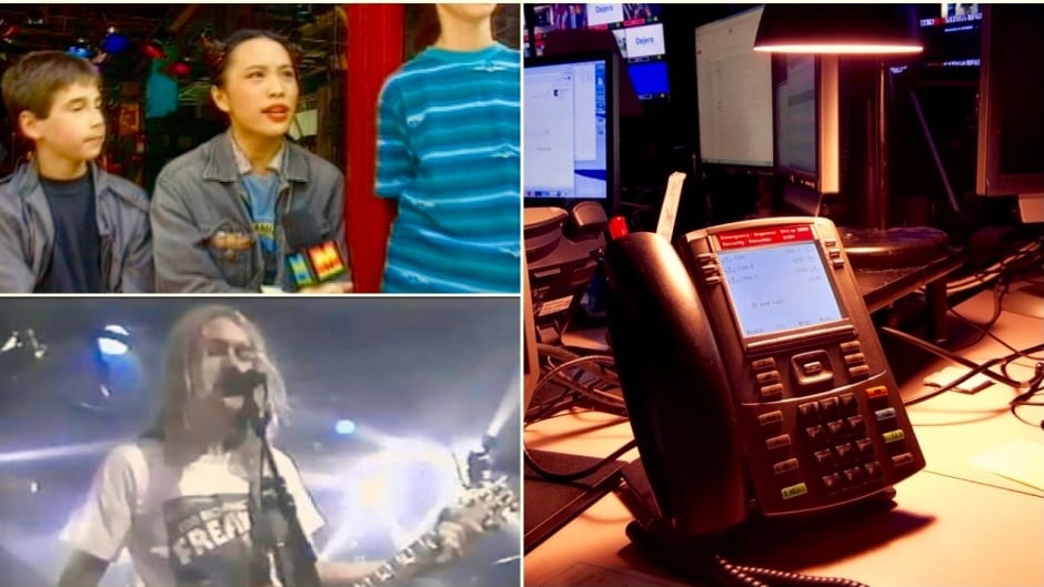 The environment at MuchMusic was loud: phones ringing, TVs blasting, music thumping, producers shouting, and rock stars coming and going.