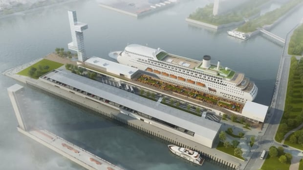 An artist's rendering shows what the refurbished Alexandra Pier and passenger terminal is to look like.