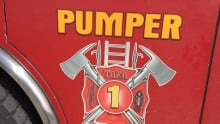 Thunder Bay fire rescue pumper sign