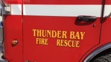 Thunder Bay fire rescue door sign